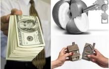 Деньги, яблоко и домик