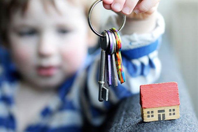 Ребенок и ключи