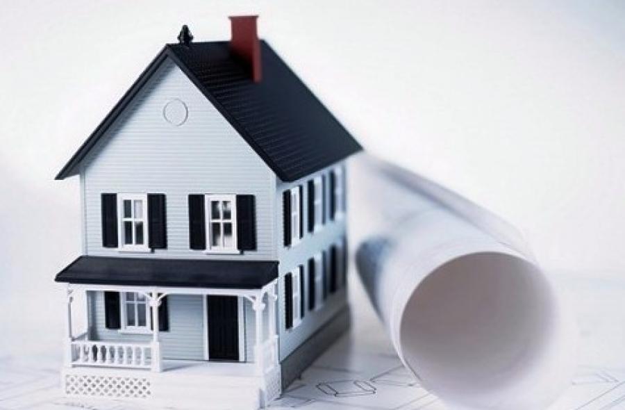 Макет дома и бумага