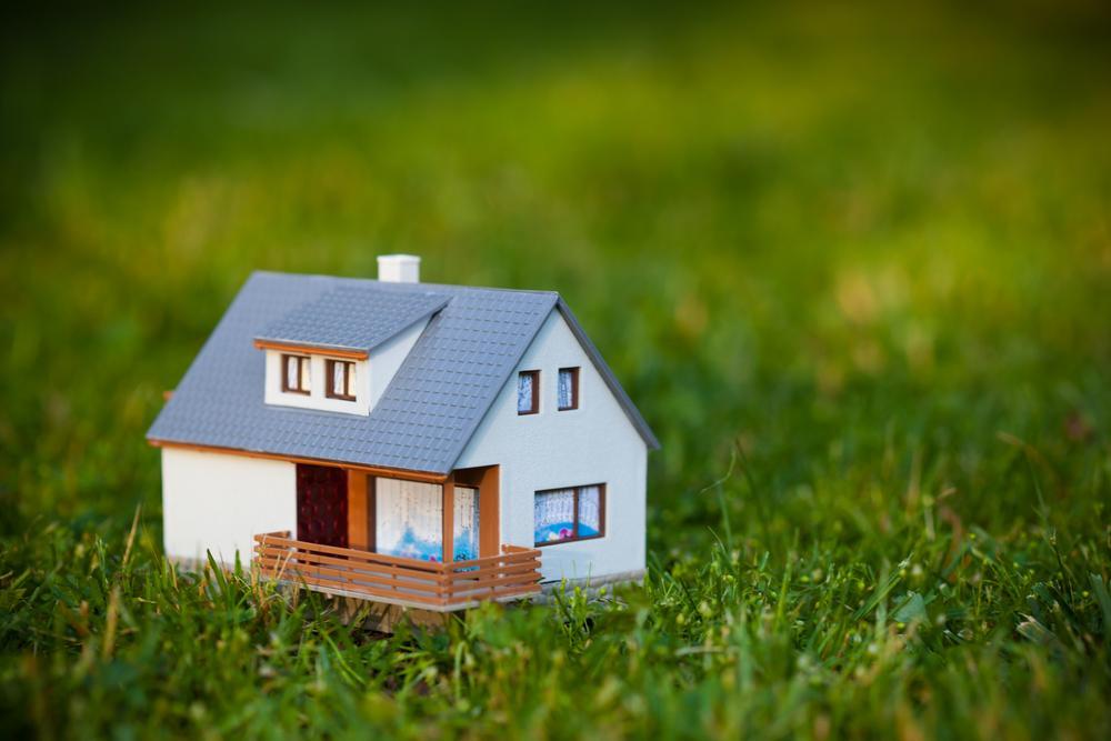 Макет дома на траве