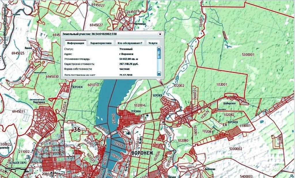 Карта земельного участка по кадастровому номеру