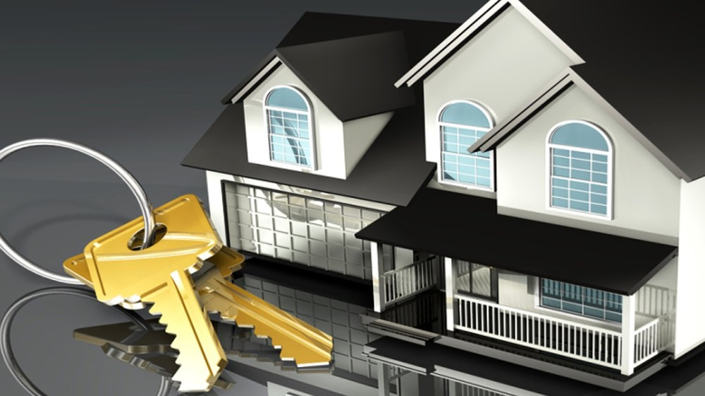 Макет частного дома и ключи