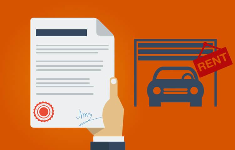 Договор аренды гаража на одном листе
