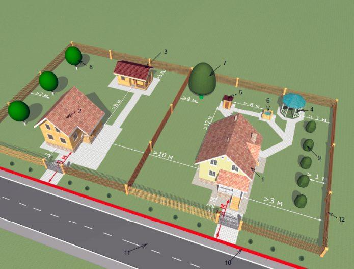 Расстояние между жилыми домами в частном сектора