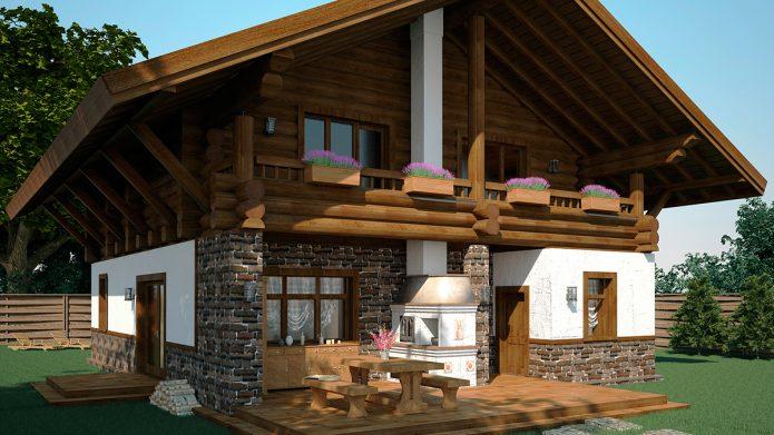 Оригинальный проект загородного дома