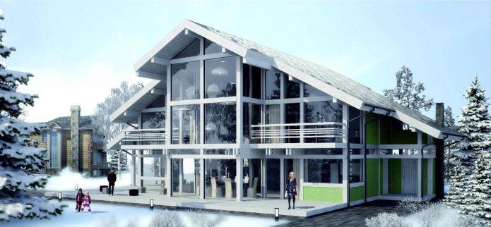 Интересный проект дома в немецком стиле
