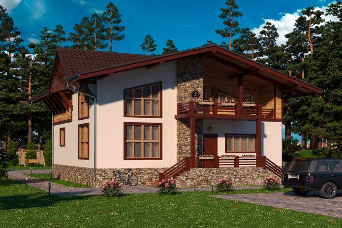 Интересный проект дома в стиле шале