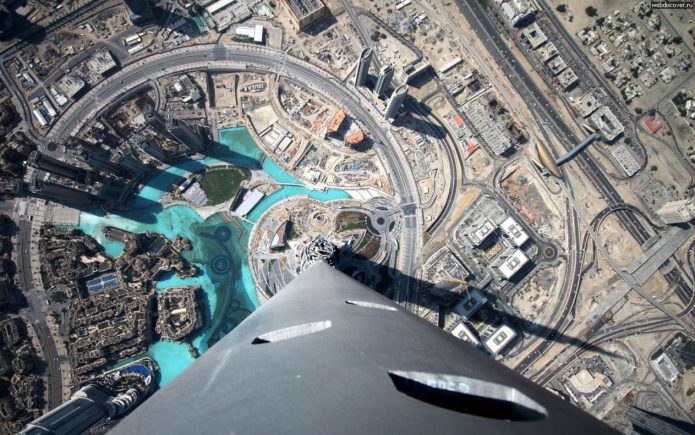 Дубай с высоты Бурдж-Халифы