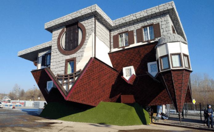 Перевёрнутый дом в Уфе