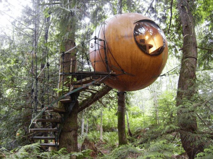 Круглые домики от Тома Чадлейга в Канаде