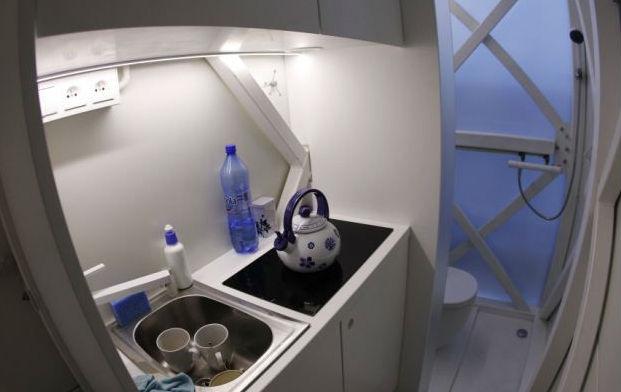 Кухня самого узкого дома в мире