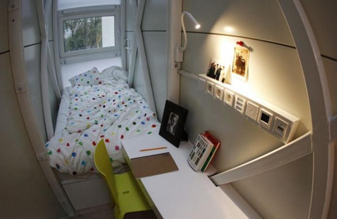 Спальня в самом узком доме