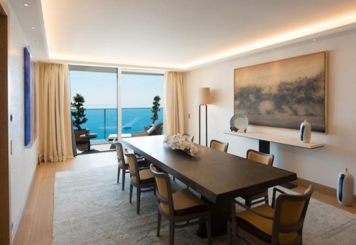 Столовая в самой дорогой квартире в мире