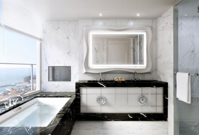 Другая ванная комната в самой дорогой квартире в мире