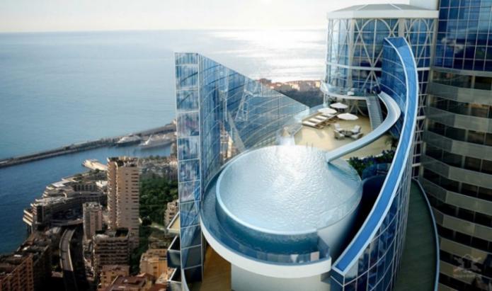 Бассейн в самой дорогой квартире в мире