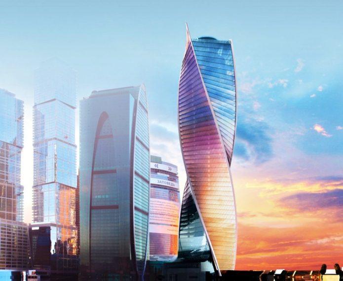 Витой небоскрёб в Москве