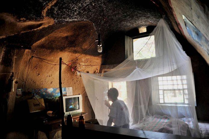 Интерьер подземного дома