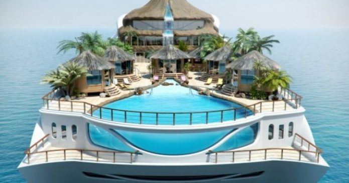Плавучий остров Tropical island Paradise