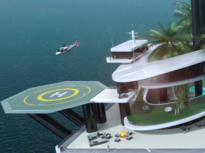 Вертолоётная площадка на Kokomo Ailand