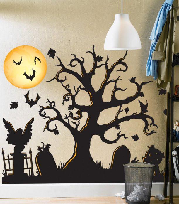 Декорирование стен к Хэллоуину
