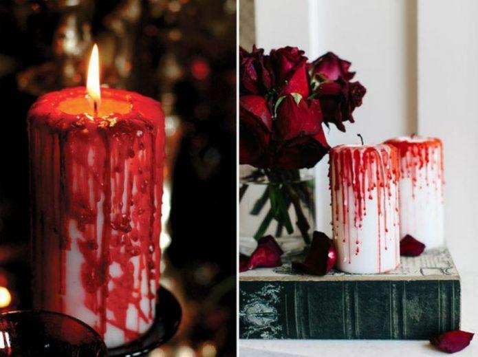 Свечи для декора своими руками