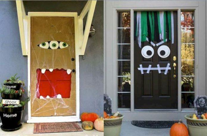 Необычные двери к празднику Хэллоуина