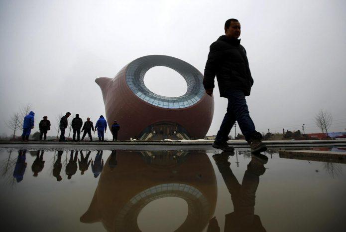 Сооружение в форме чайника в Китае