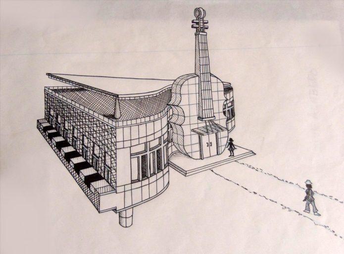 проект музыкального здания в Китае