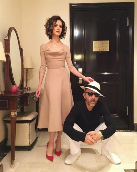 Матильда и Сергей Шнуровы в своей квартире
