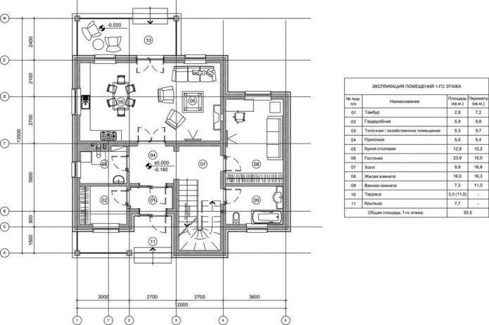 Схема дома Ксении Бородиной