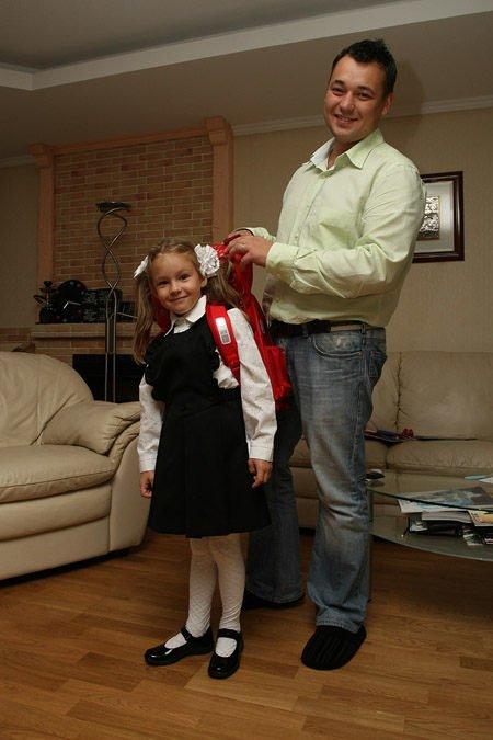 Сергей Жуков с дочкой