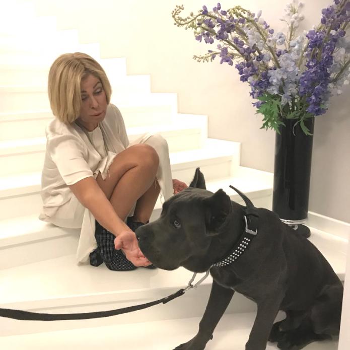 Любовь Успенская с собакой