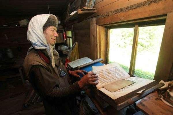 Агафья Лыкова читает
