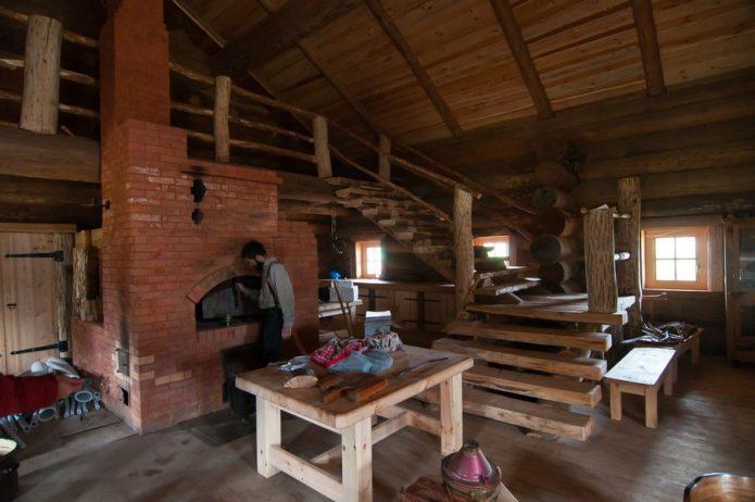 Помещение с кирпичной печью в доме Германа Стерлигова
