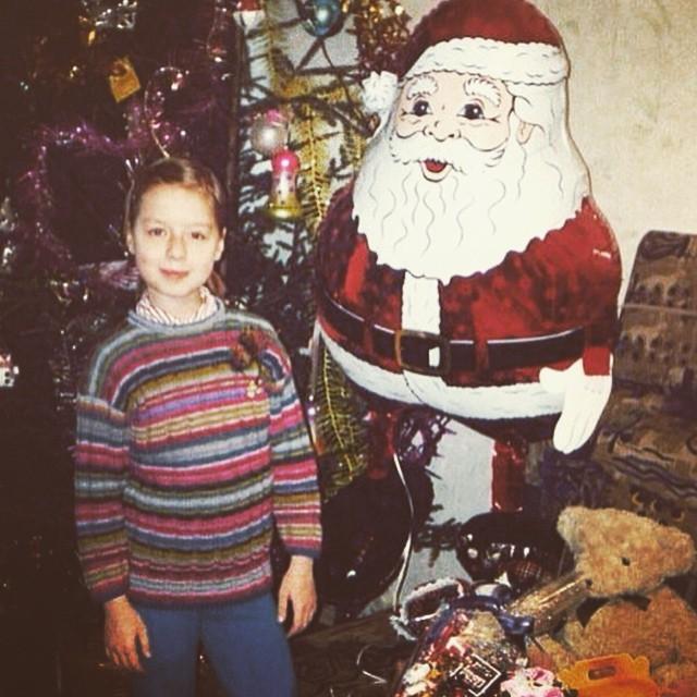 Юлия Савичева в детстве