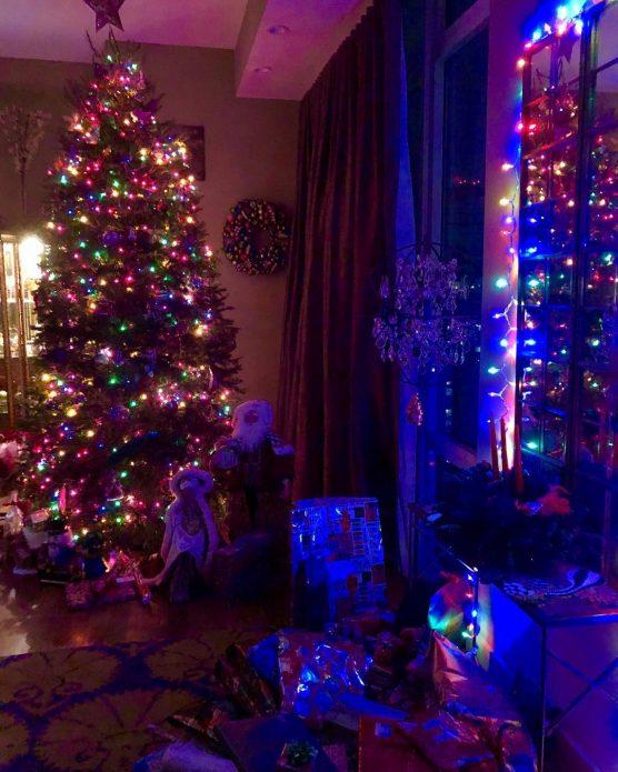 Новогодняя ёлка в доме Анны Нетребко
