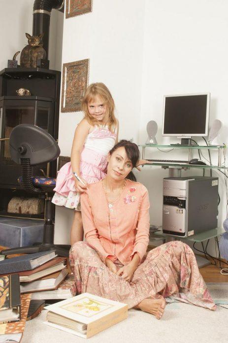 Марина Хлебникова с дочерью