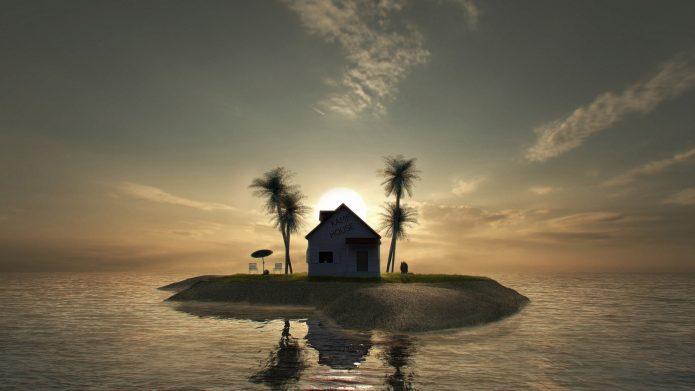 Дом посреди моря