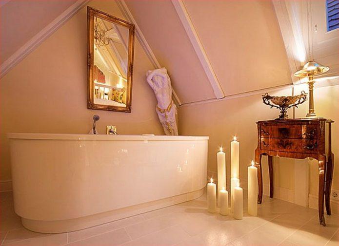 Ванная в свадебном домике