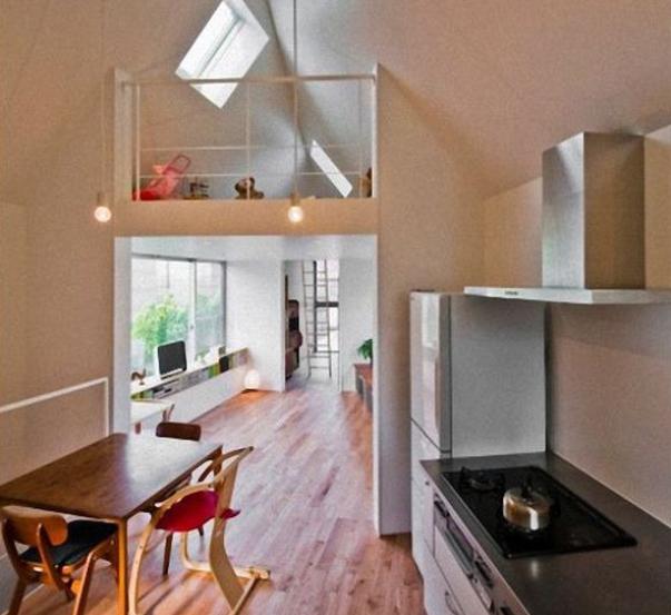Интерьер необычного дома в Японии