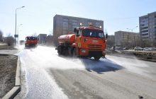 уборка улиц поливочными машинами