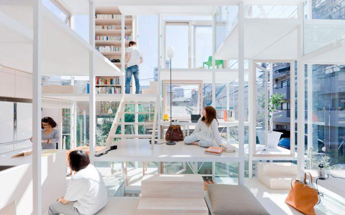 прозрачный дом в японии